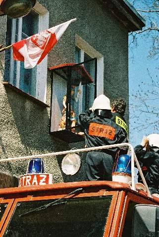 Umiejscowienie figury św. Floriana, 03.05.2006r.