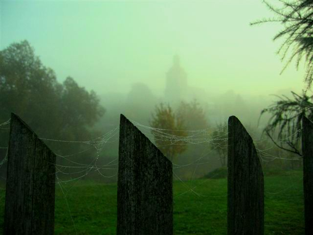 Gorzanów w jesiennej mgle, Autor: M. Szwabińska, 11.10.2008r.