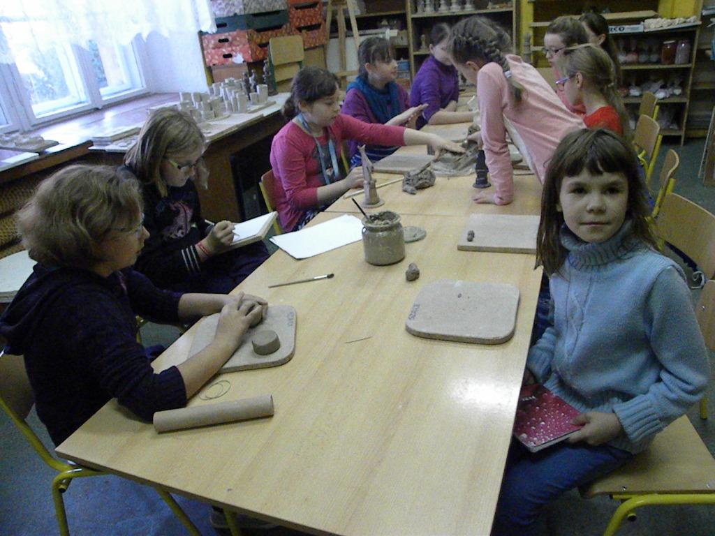 Zajęcia ceramiczne klasy IV, V i VI, 28.10.2014r.