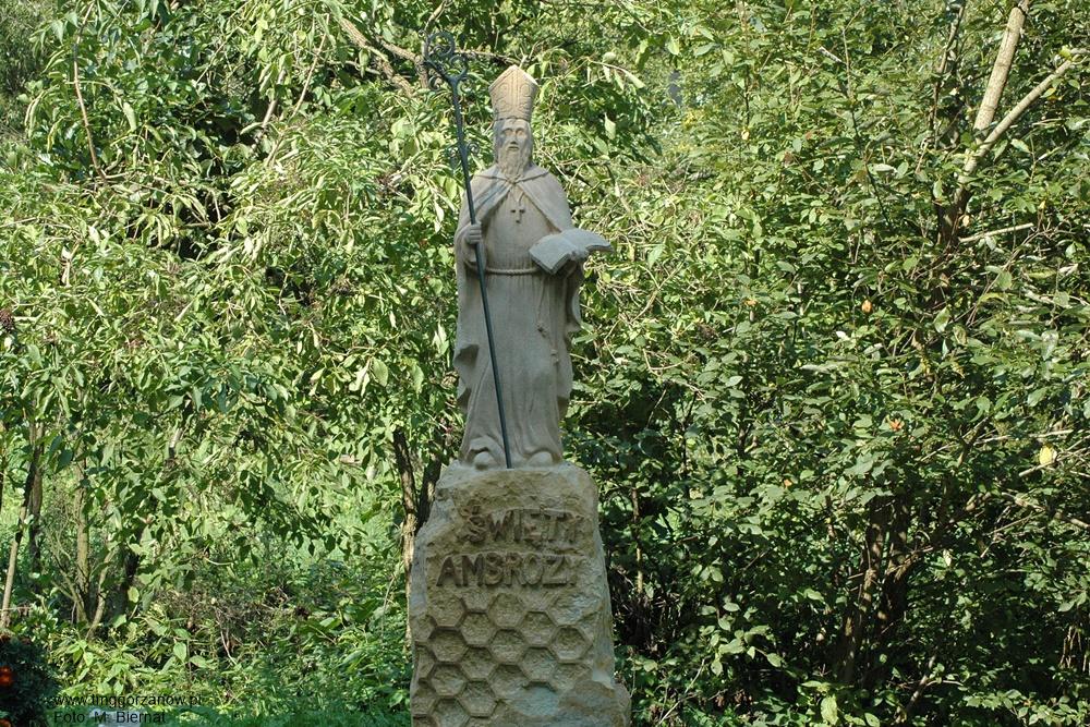 Figura św. Ambrożego w Topolicach, Autor: M. Biernat, 07.09.2014r.