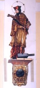 Figura św. Jana Nepomucena w kościele parafialnym, Autor: R. Duma