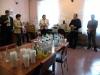 65 lecie Szkoły Podstawowej wGorzanowie, wystawa idegustacja wód mineralnych wfilii bibliotecznej, 18.09.2010r.