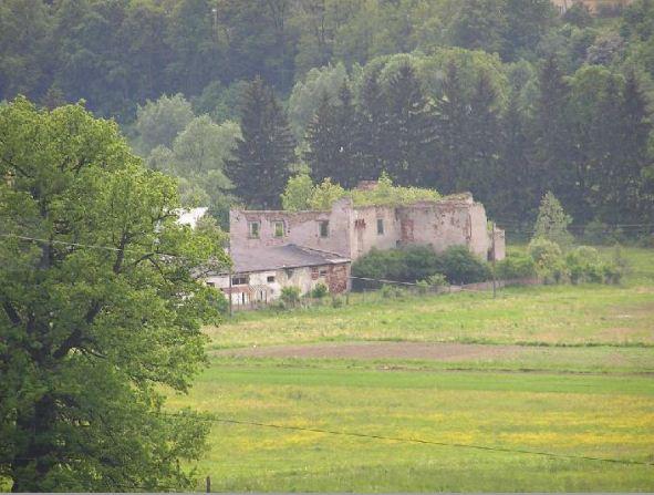 Widok na Dwór Raczyn (Ratschin)