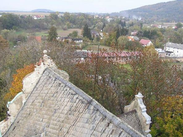 Widok z wieży Pałacu w kierunku północnym