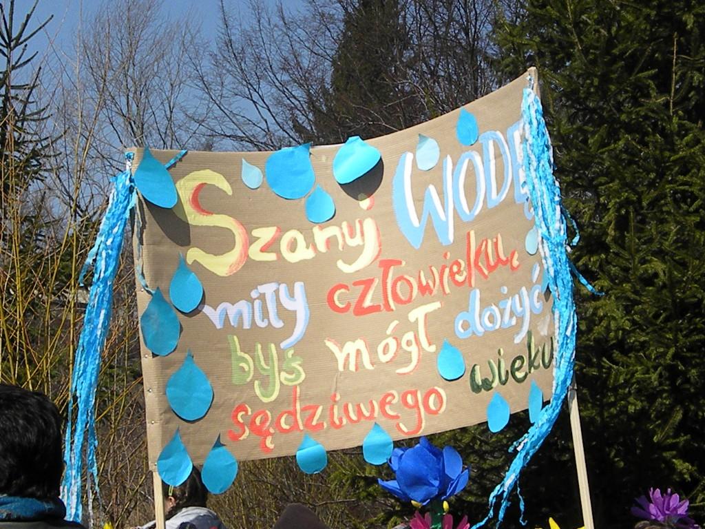 I Dzień Wiosny w SP, Plakat wykonany przez uczniów, Autor: R. Duma, 21.03.2011r.