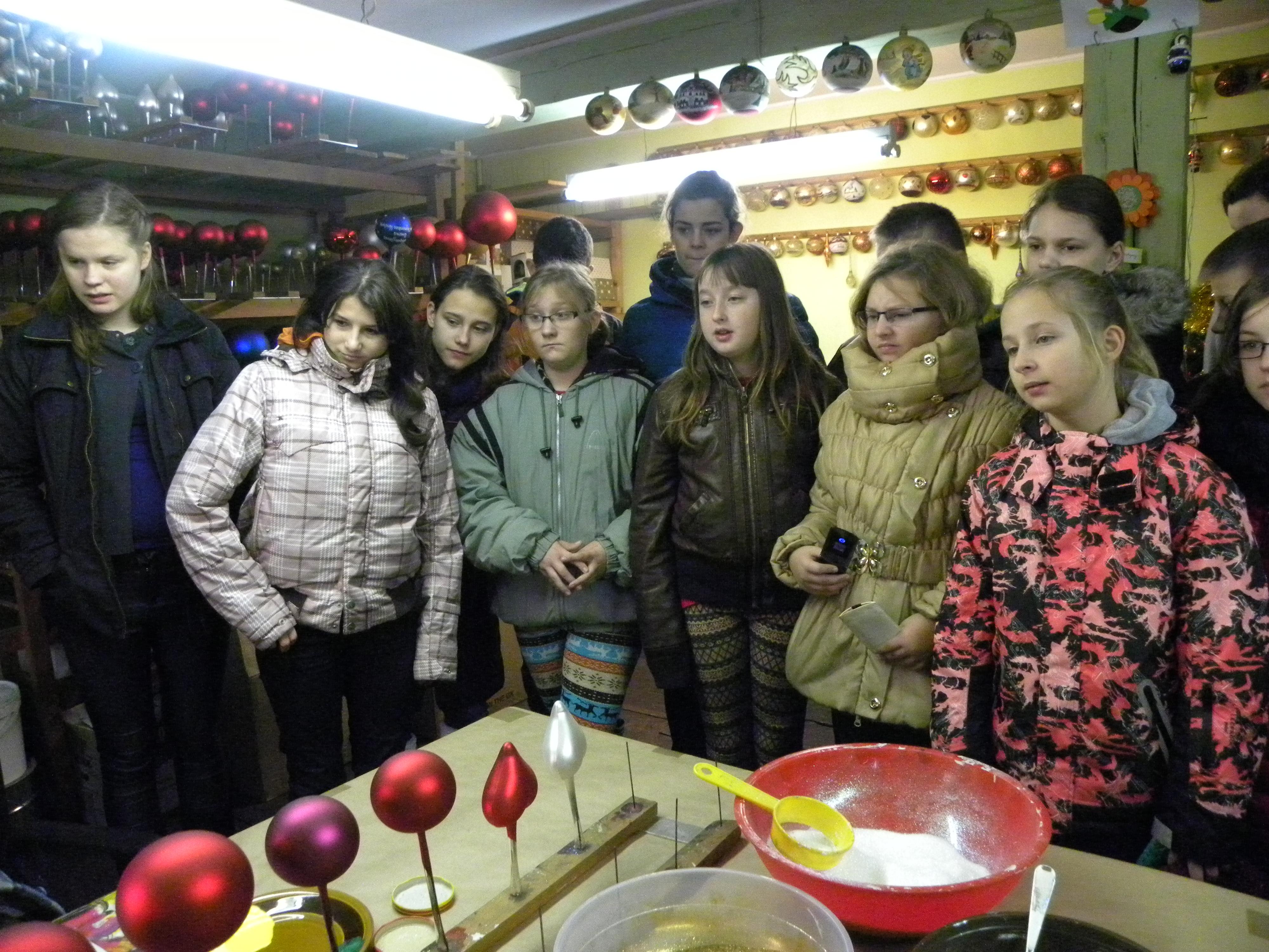 Wycieczka do fabryki bombek w Ząbkowicach Śląskich, Autor: A. Chabło, 26.11.2014r.