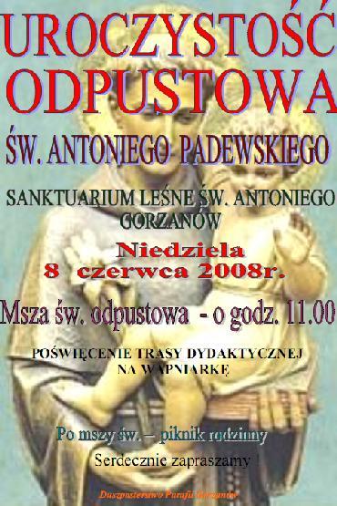 2008.06.08. Plakat_Odpust św.Antoniego