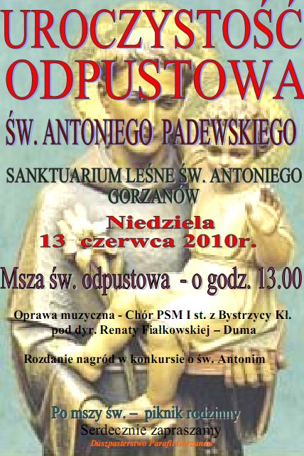 2010.06.13. Plakat_Odpust św.Antoniego