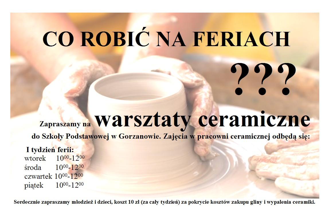 2011. Plakat_Warsztaty ceramiczne