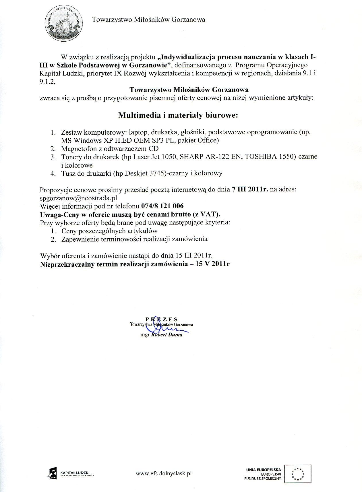2011.03.07 zapytanie_ofertowe_multimedia imaterialy biurowe