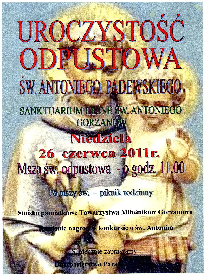 2011.06.26. Plakat_Odpust św.Antoniego