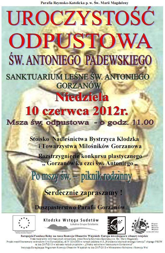 2012.06.10. Plakat_Odpust św.Antoniego