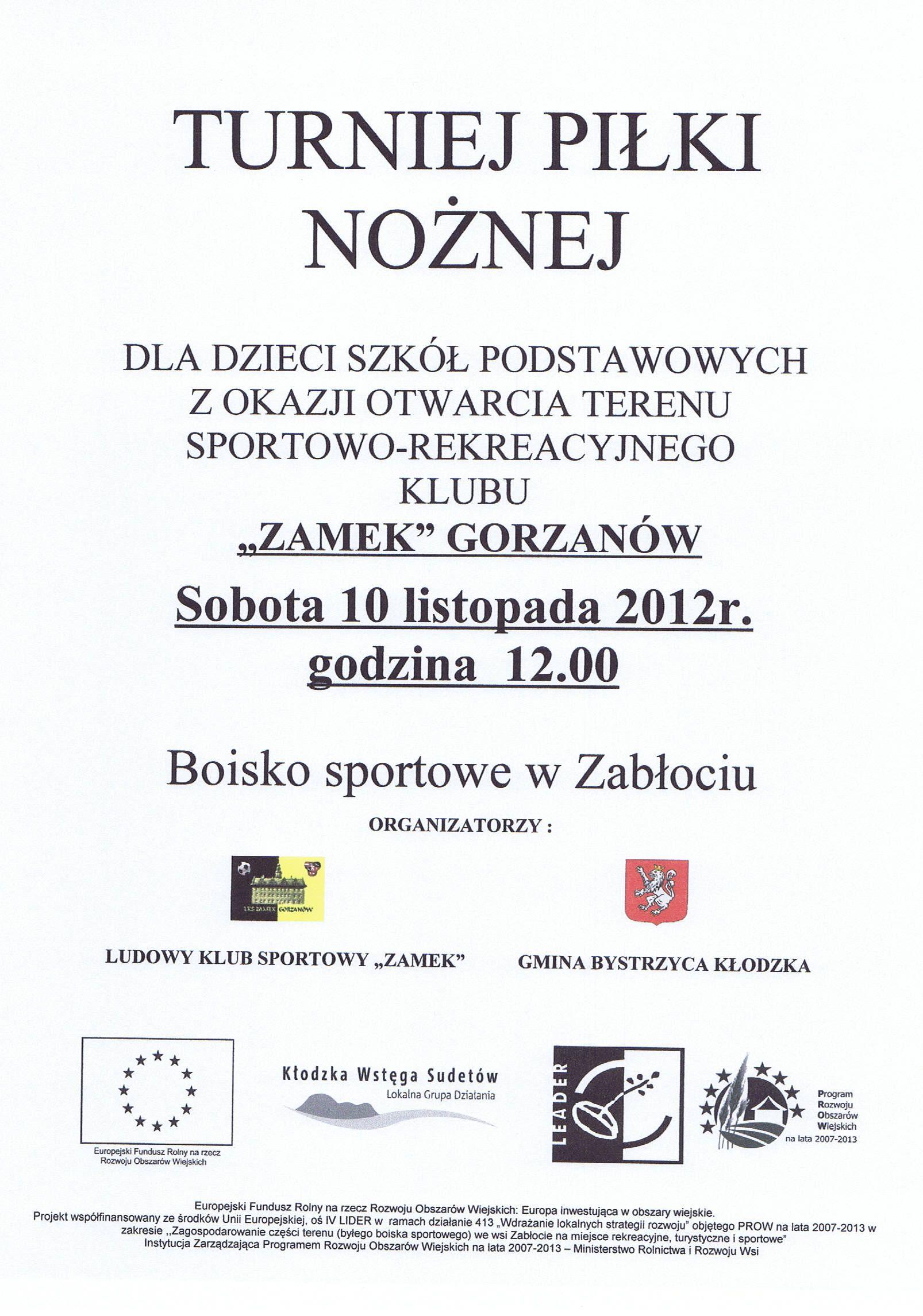 2012.11.10. Plakat_Turniej Piłki Nożnej wZabłociu