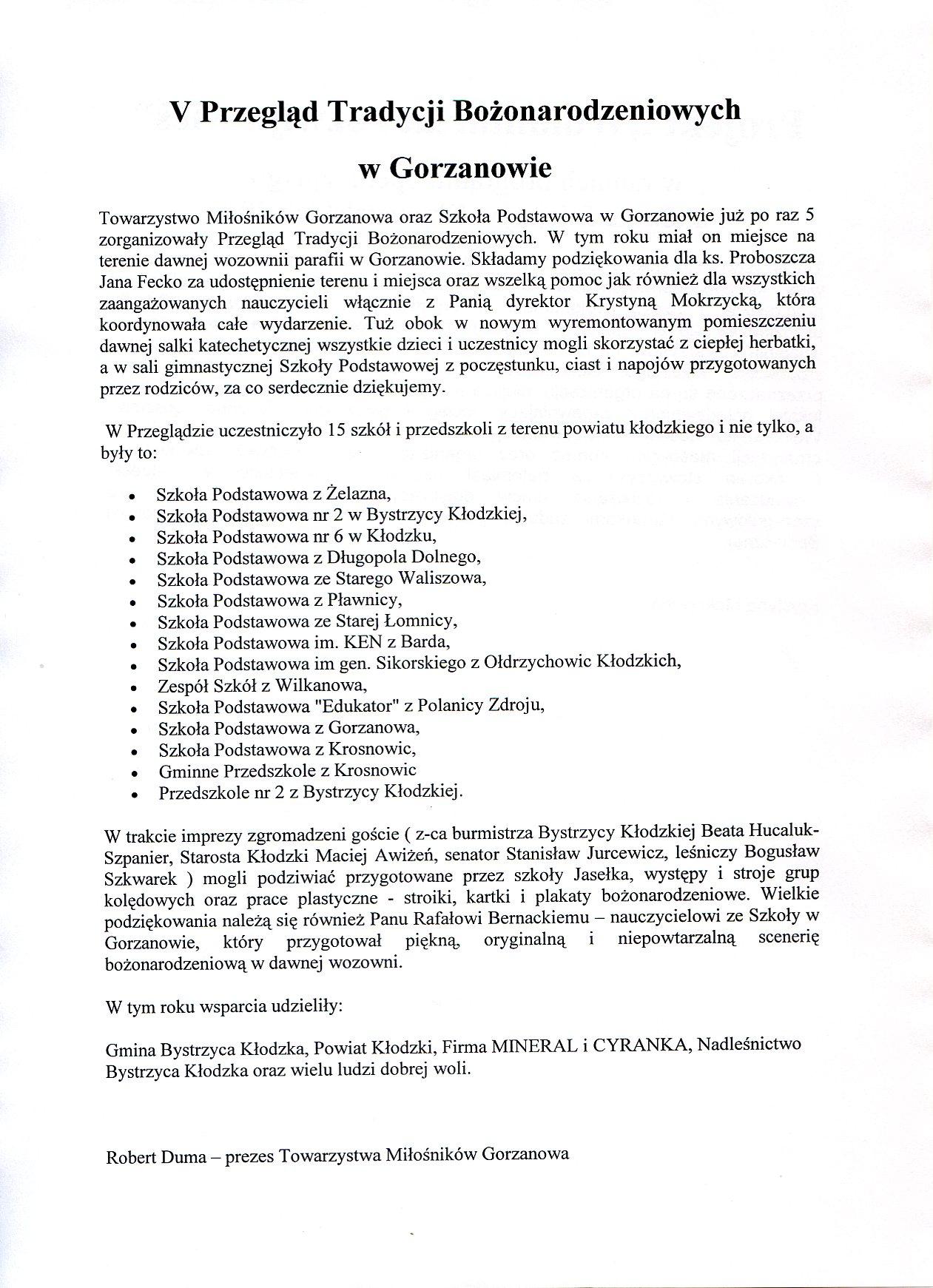 2012.12.18. V Przegląd TB_Relacja