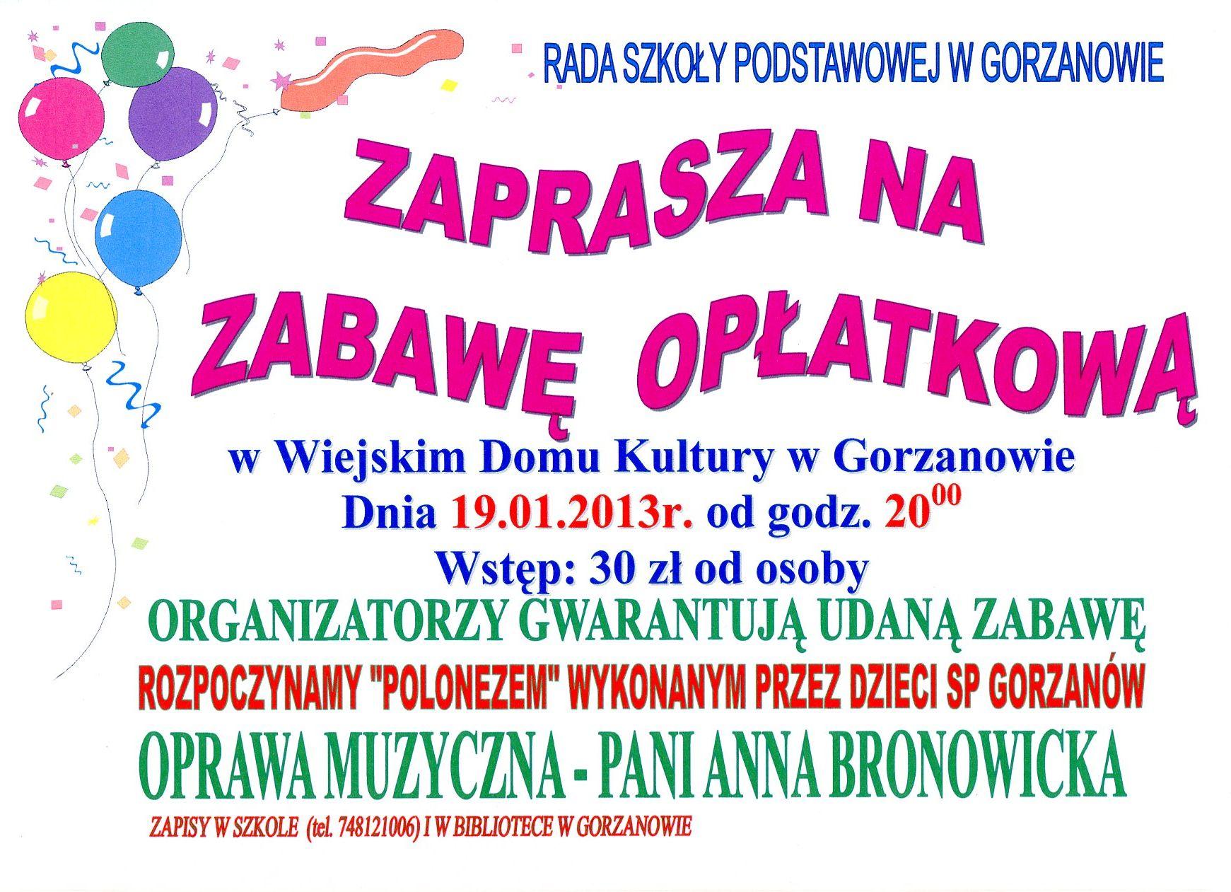 2013.01.19. Plakat_Zabawa_Oplatkowa_