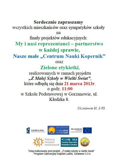 2013.03.16. Plakat_Zaproszenie nafinal_projektow