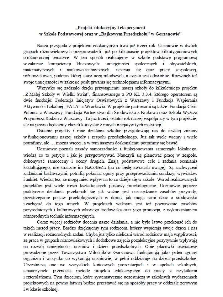 2013.03.16. Projekt edukacyjny ieksperyment wSP iBP_1