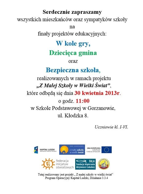 2013.04.22. Plakat_zaproszenie_finaly_projektow