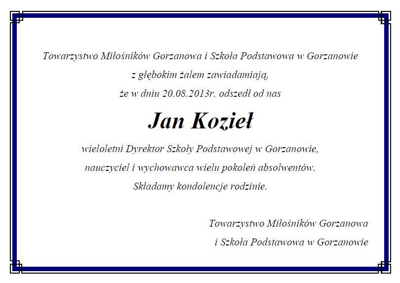 2013.08.21. Kondolencje Jan_Koziel
