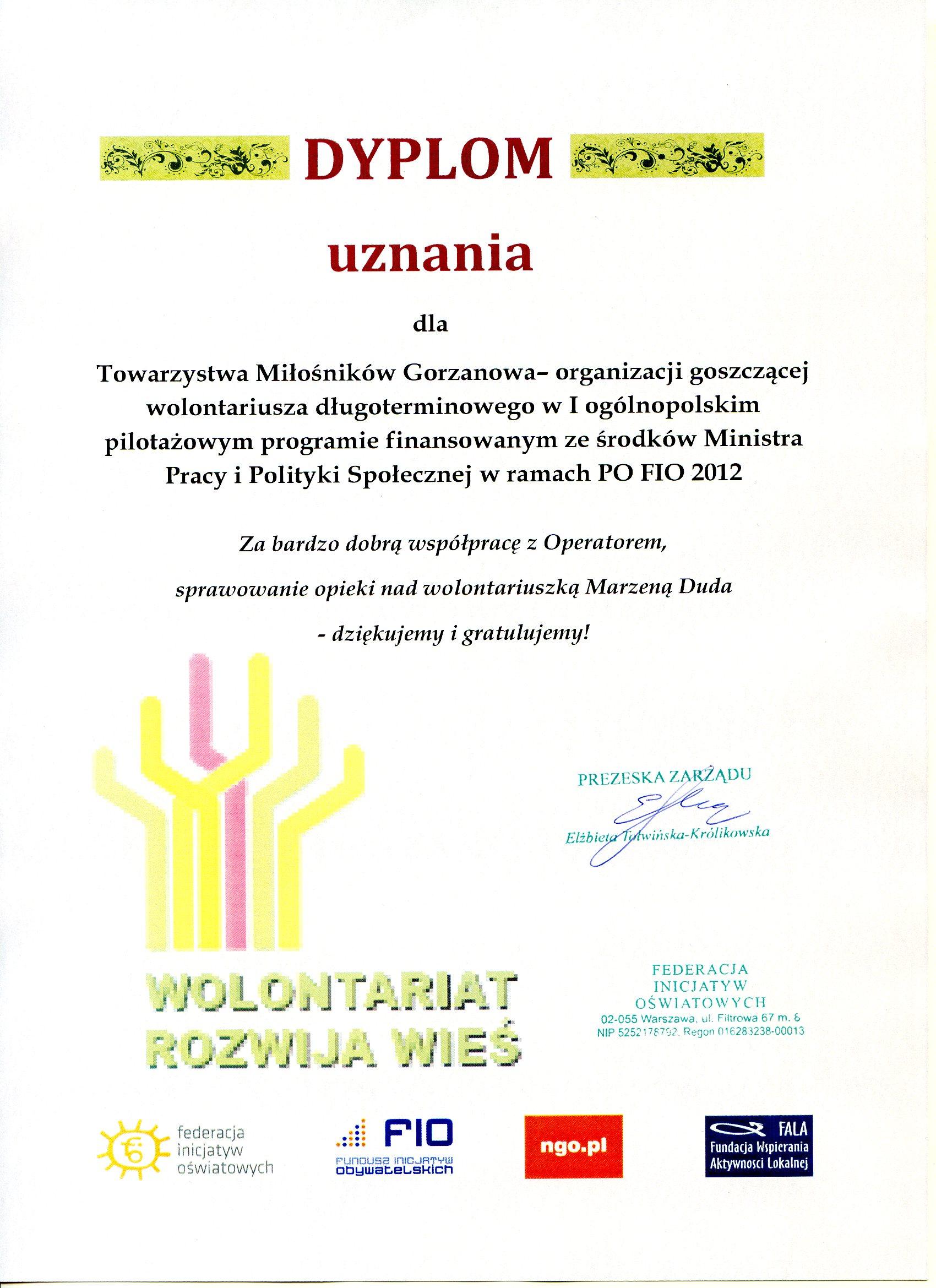 2013.09.09. Dymplom_Wolontariat_Rozwija_Wieś