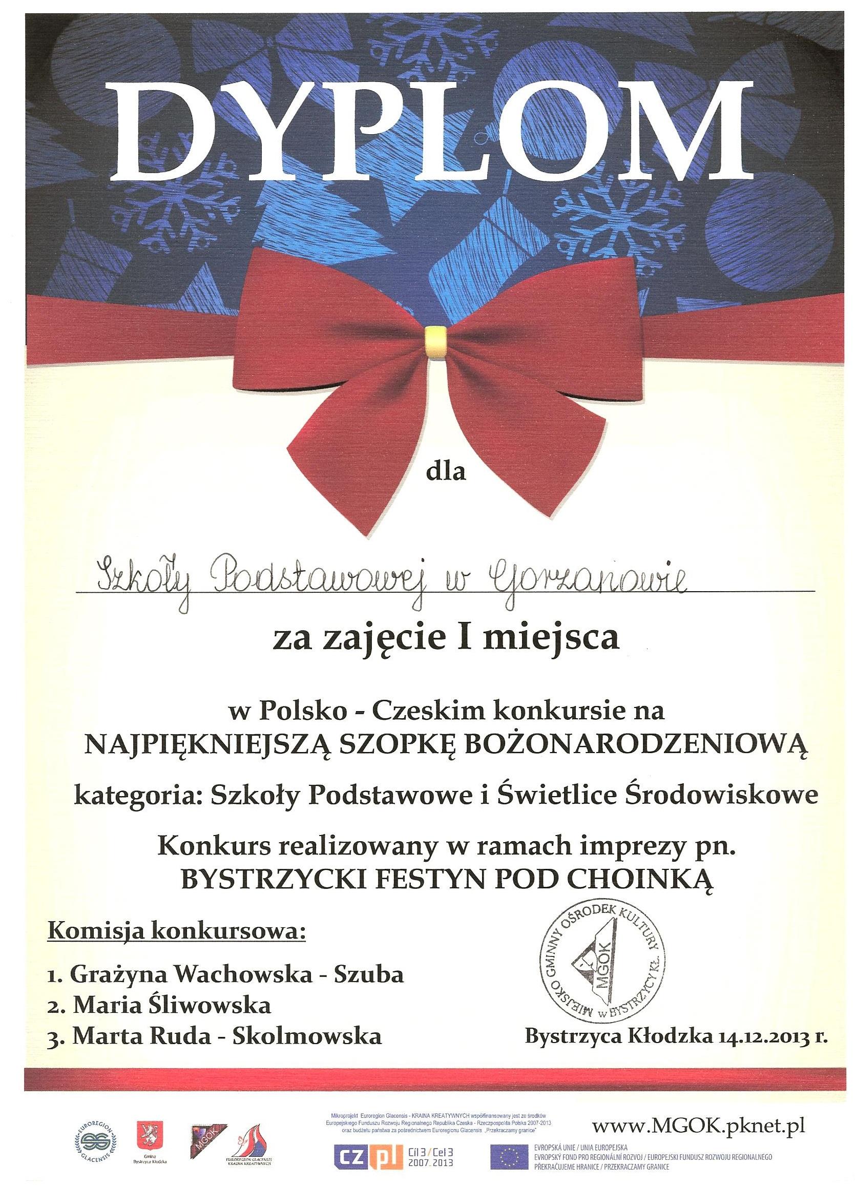 Dyplom_I_miejsce_Szopka_Bożonarodzeniowa