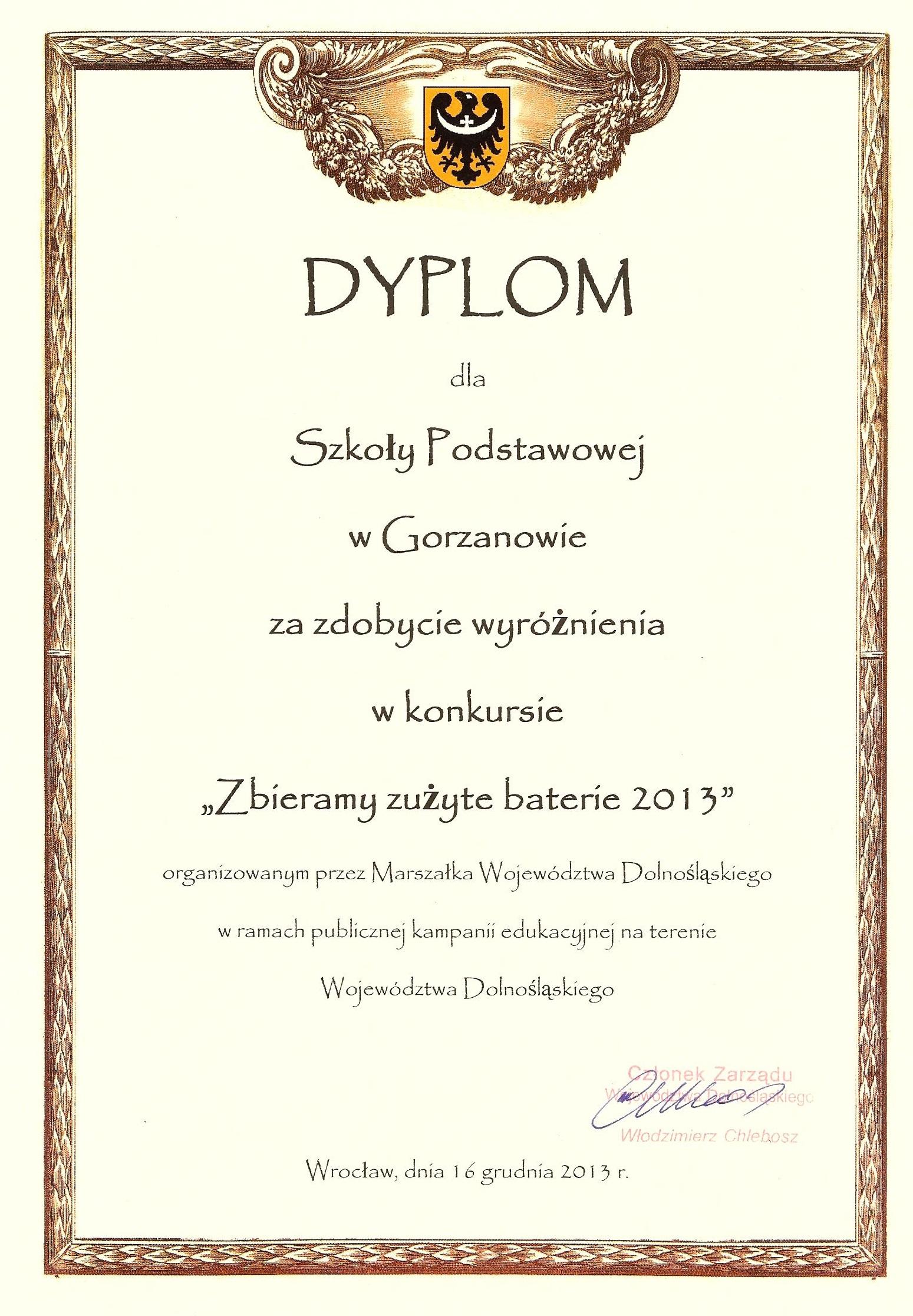 Dyplom_Zużyte_baterie_2013.12.16